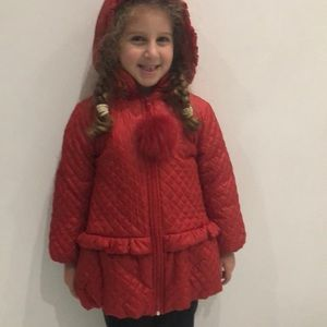 Baby Graziella quilted Filled Coat Jacket Hooded